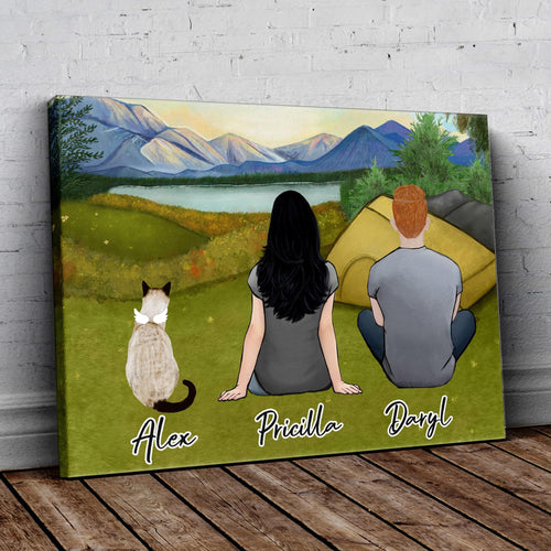 Camping Personalized Pet & Owner Wrapped Canvas Wrapped Canvas Gooten