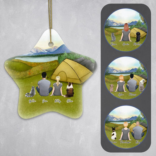 Camping Star Ornament - Personalized Pet & Owner Ornament Gooten