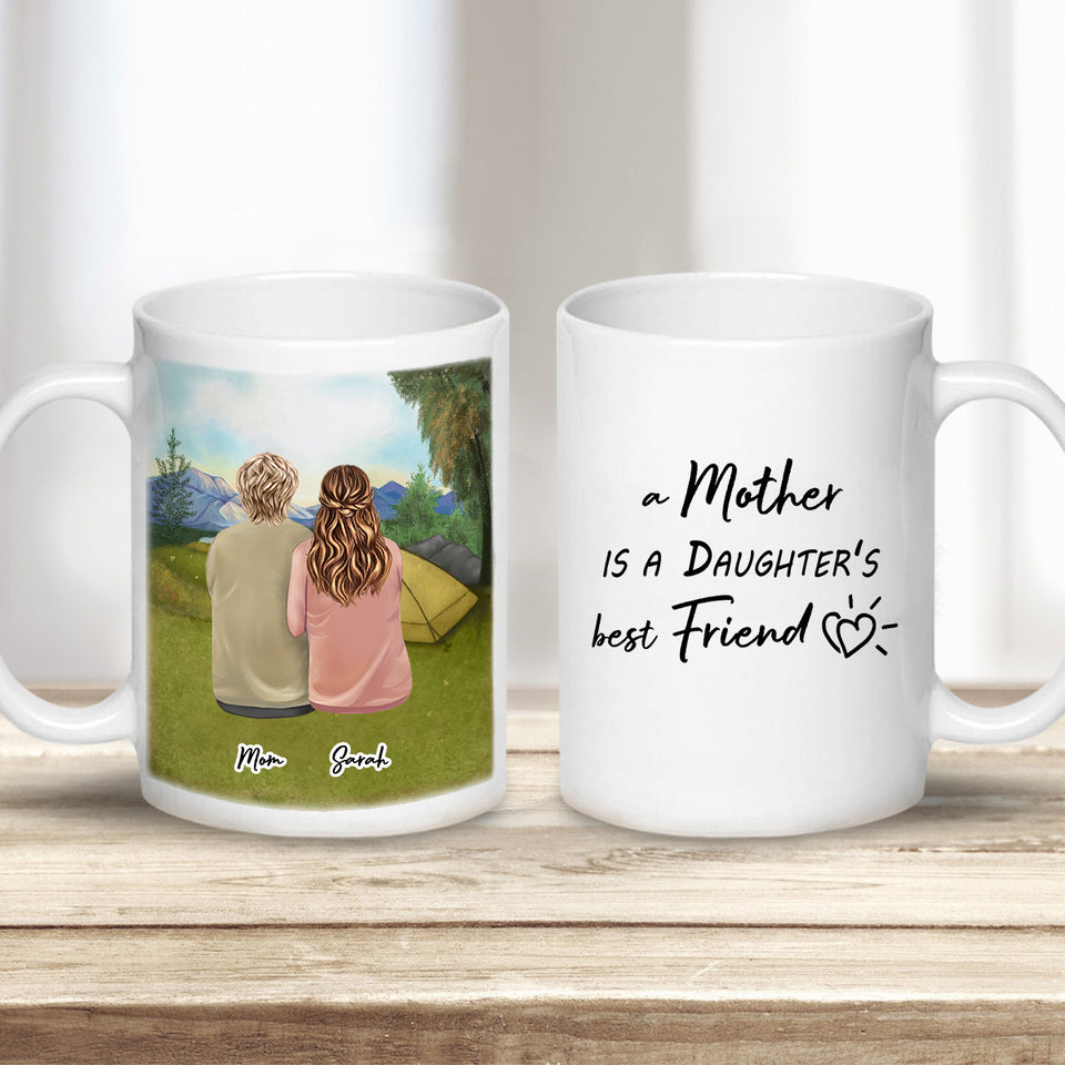 Camping Personalized Mothers Day Coffee Mug