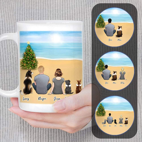 Christmas Beach Custom Printed Pet & Owner Coffee Mug Mug Gooten