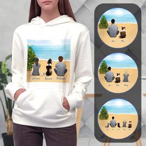 Christmas Beach Personalized Pet & Owner Hoodies Gooten