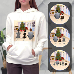 Christmas Living Room Personalized Pet & Owner Hoodies Gooten