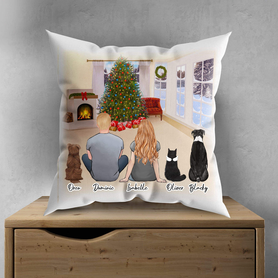 Christmas Living Room Personalized Pet & Owner Pillow Gooten