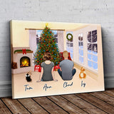 Christmas Living Room Personalized Pet & Owner Wrapped Canvas Wrapped Canvas Gooten