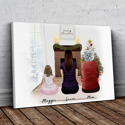 Christmas Scene Personalized Family Wrapped Canvas Gooten