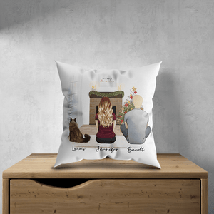 Christmas Scene Personalized Pet & Owner Pillow Gooten