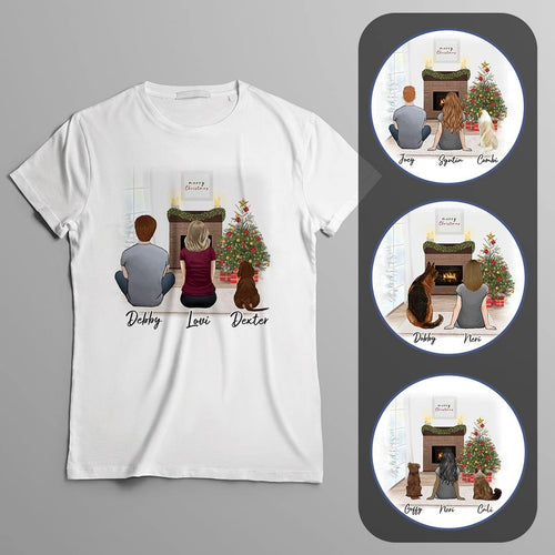 Christmas Scene Personalized Pet & Owner T-Shirt Gooten