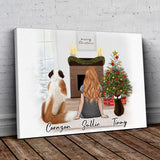 Christmas Scene Personalized Pet & Owner Wrapped Canvas Wrapped Canvas Gooten