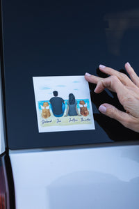 Christmas Square Sticker - Personalized Pet & Owner Sticker theonlinemachine