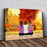 Fall Personalized Best Friend Wrapped Canvas Wrapped Canvas Gooten