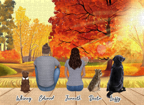 Fall Personalized Pet & Owner Puzzle Puzzle Puzzle