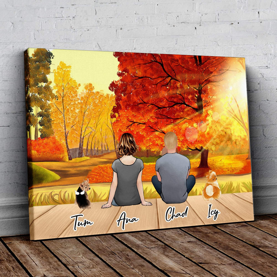 Fall Personalzied Pet Wrapped Canvas Wrapped Canvas Gooten