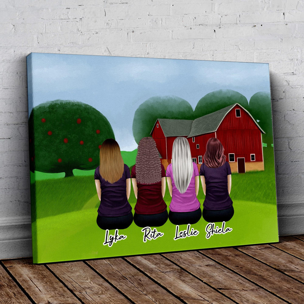 Farm Personalized Best Friend Wrapped Canvas Wrapped Canvas Gooten