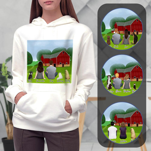 Farm Personalized Pet & Owner Hoodies Gooten