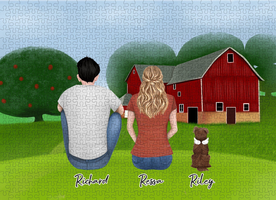 Farm Personalized Pet & Owner Puzzle Puzzle Puzzle