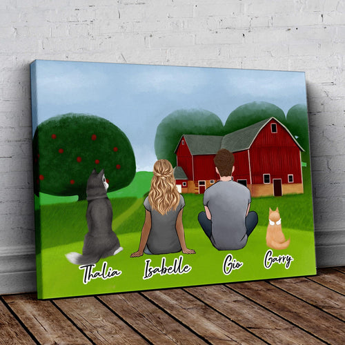 Farm Personalzied Pet & Owner Wrapped Canvas Wrapped Canvas Gooten