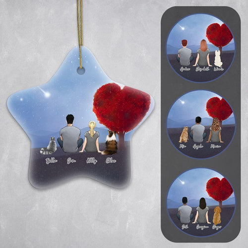 Heart Love Star Ornament - Personalized Pet & Owner Ornament Gooten
