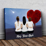 Heart Tree Personalized Best Friend Wrapped Canvas Wrapped Canvas Gooten