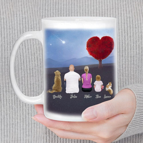 Heart Tree Personalized Family Coffee Mug Mug Gooten