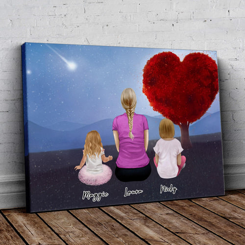 Heart Tree Personalized Family Wrapped Canvas Gooten