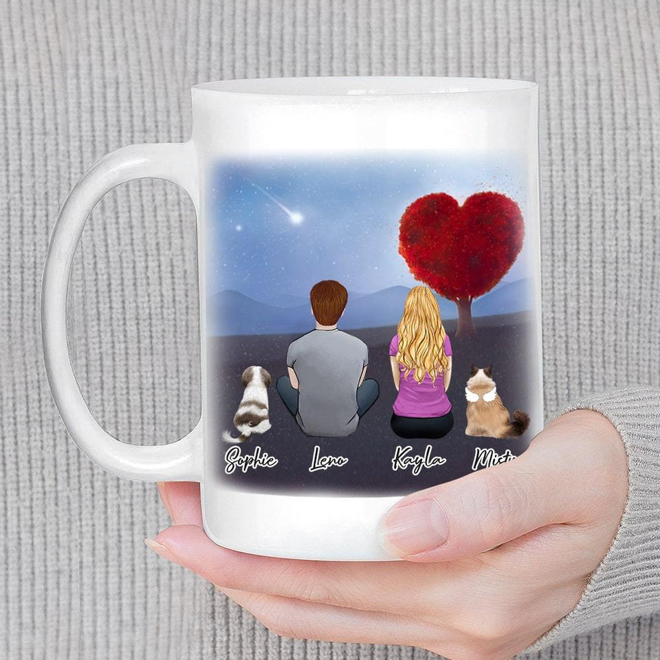Heart Tree Personalized Pet & Owner Coffee Mug Mug Gooten