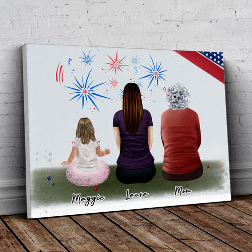 July 4th Personalized Family Wrapped Canvas Gooten
