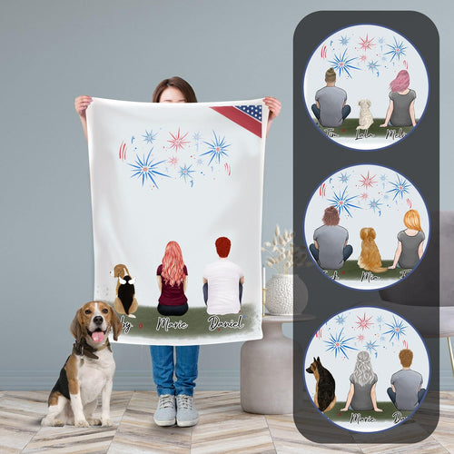 July 4th Personalized Pet & Owner Blanket Blanket Gooten
