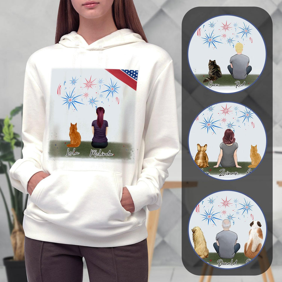 July 4th Personalized Pet & Owner Hoodies Gooten