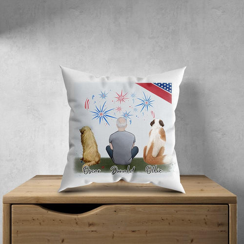 July 4th Personalized Pet & Owner Pillow Gooten