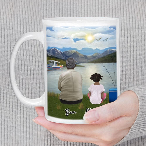 Lake & Boat Personalized Family Coffee Mug Mug Gooten