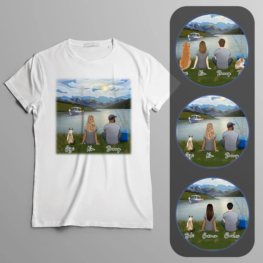 Lake & Boat Personalized Pet & Owner T-Shirt Gooten