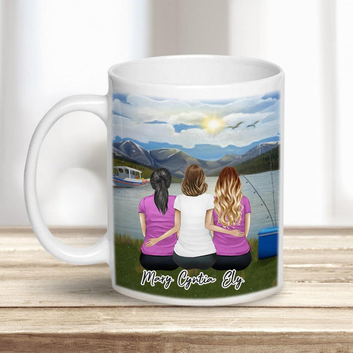 Lake & Mountain Personalized Best Friend Sister Coffee Mugs Mug Gooten