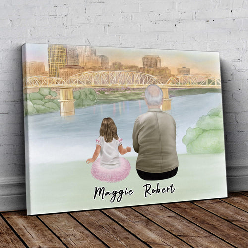 Nashville Personalized Family Wrapped Canvas Gooten