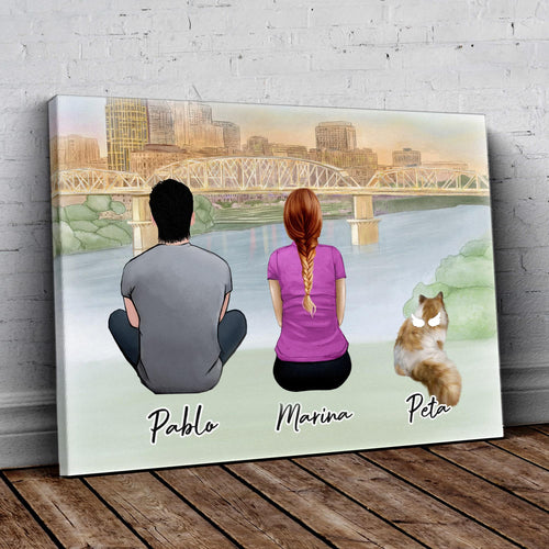 Nashville Personalized Pet & Owner Wrapped Canvas Wrapped Canvas Gooten