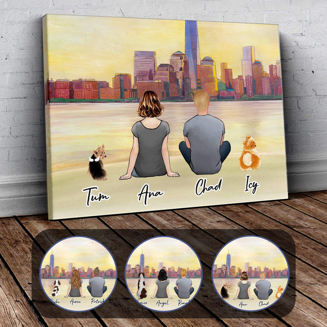 NYC Personalzied Pet & Owner Wrapped Canvas Wrapped Canvas Gooten