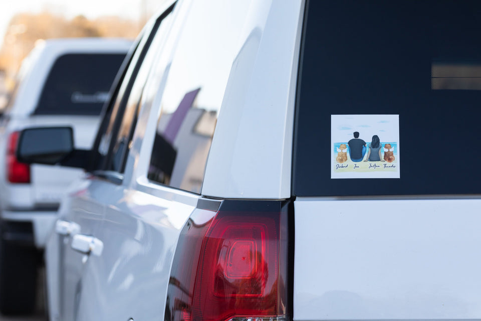 NYC Square Sticker - Personalized Pet & Owner Sticker theonlinemachine
