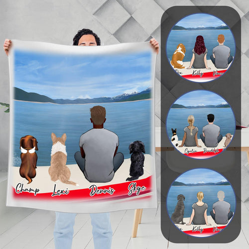 On a Boat Personalized Pet & Owner Blanket Blanket Gooten