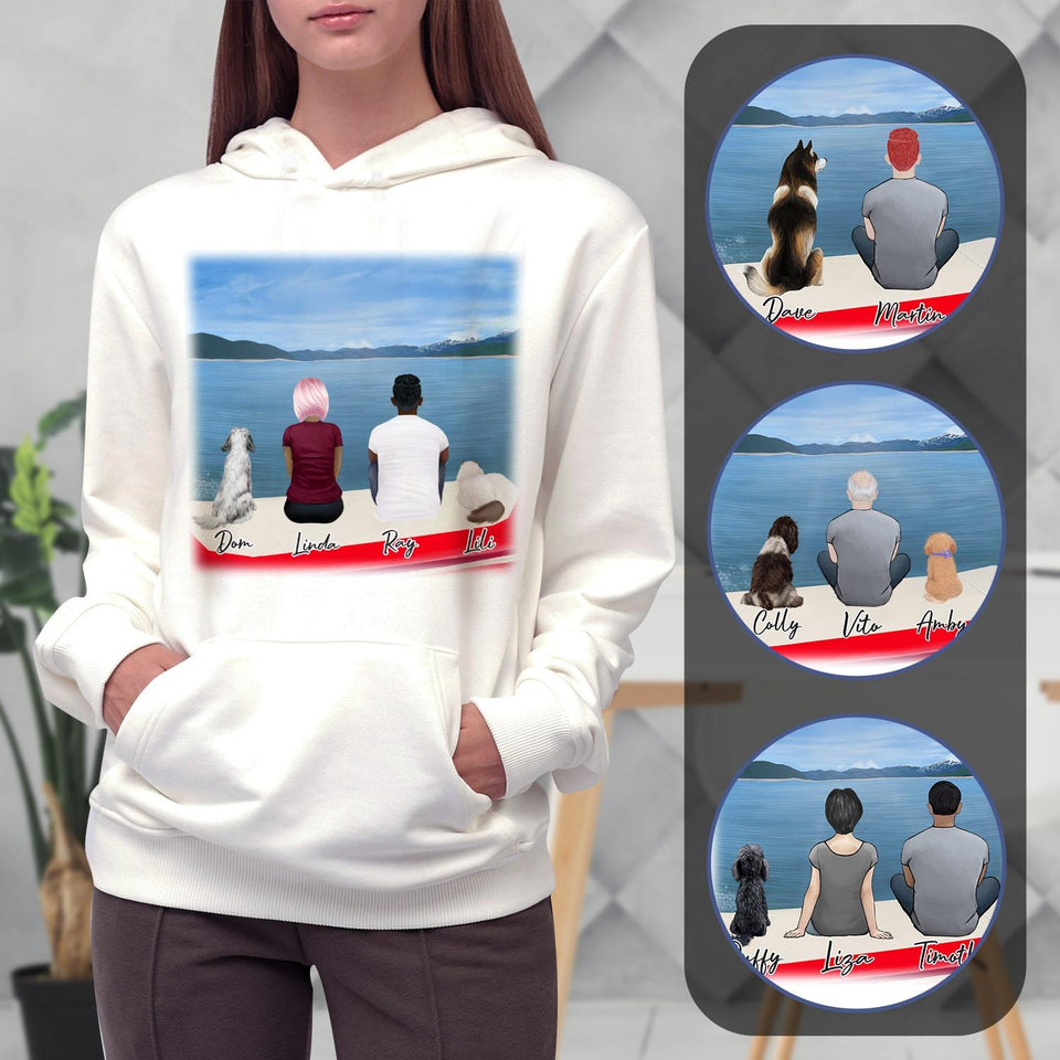 On a Boat Personalized Pet & Owner Hoodies Gooten