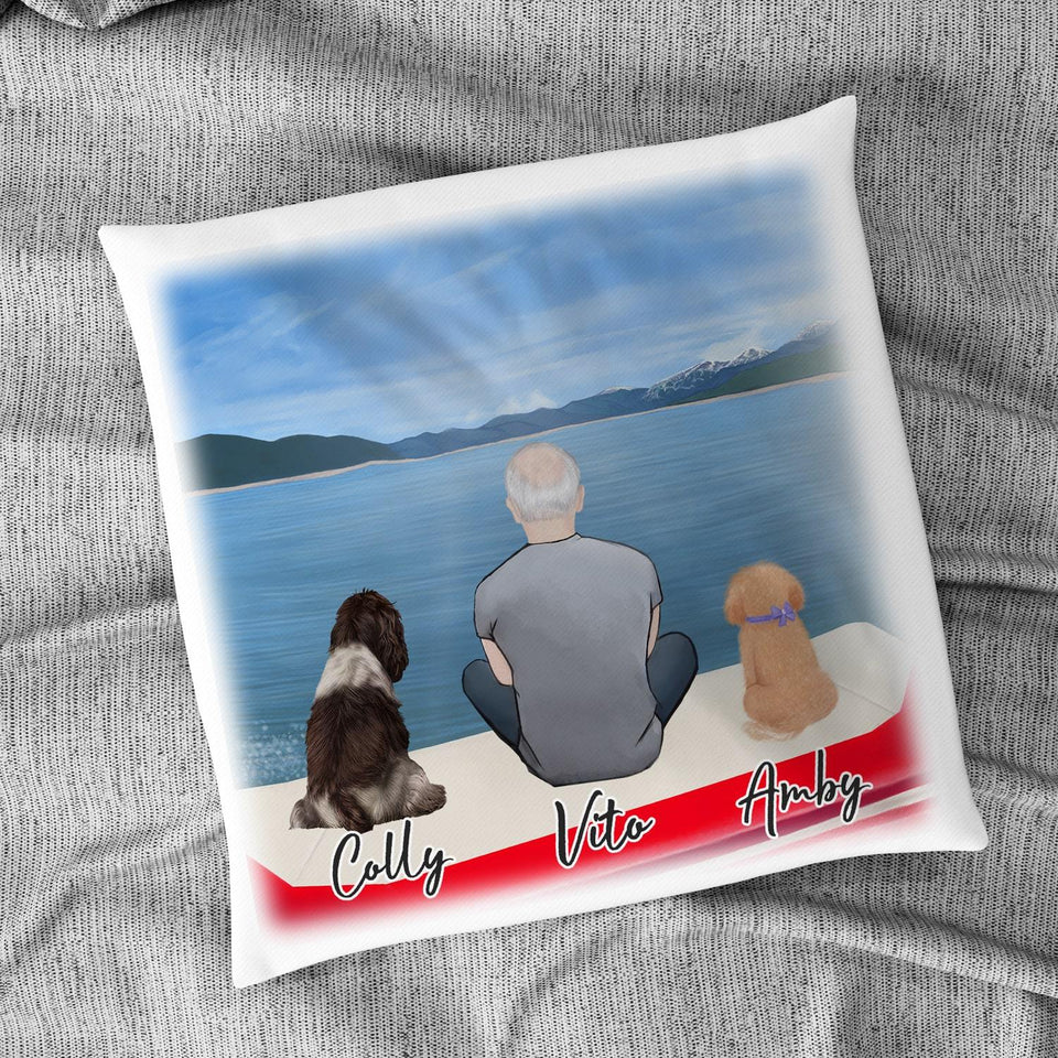 On a Boat Personalized Pet & Owner Pillow Gooten