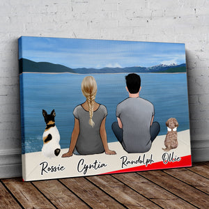 On a Boat Personalized Pet & Owner Wrapped Canvas Wrapped Canvas Gooten
