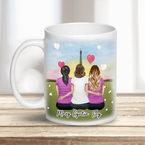 Paris Personalized Best Friend Sister Coffee Mugs Mug Gooten