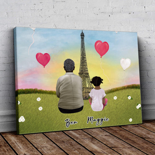 Paris Personalized Family Wrapped Canvas Gooten