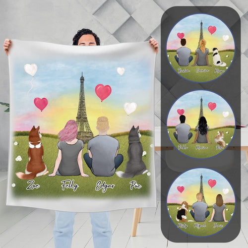 Paris Personalized Pet & Owner Blanket Blanket Gooten