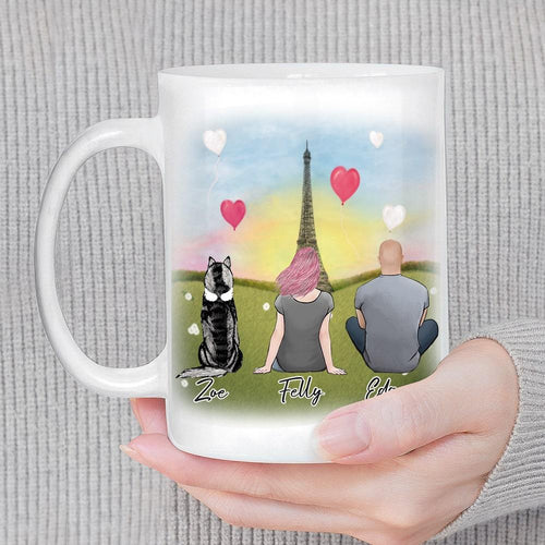 Paris Personalized Pet & Owner Coffee Mug Mug Gooten