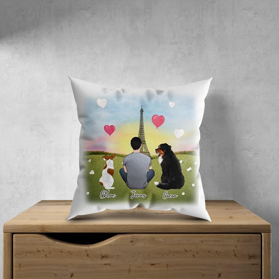 Paris Personalized Pet & Owner Pillow Gooten