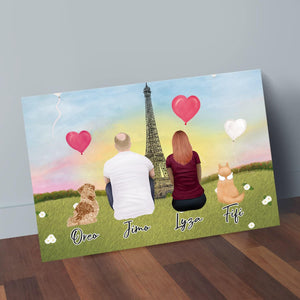 Paris Personalized Pet & Owner Wrapped Canvas Wrapped Canvas Gooten