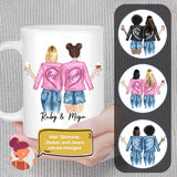 Personalized Best Friend or Sister With Jackets Coffee Mug Mug Gooten
