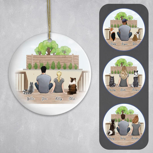 Personalized Pet & Owner Backyard Ornament Circle Ornament Gooten