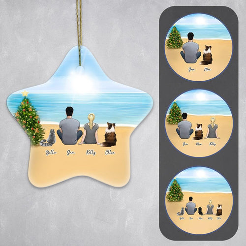 Personalized Pet & Owner Beach Ornament Star Ornament Gooten