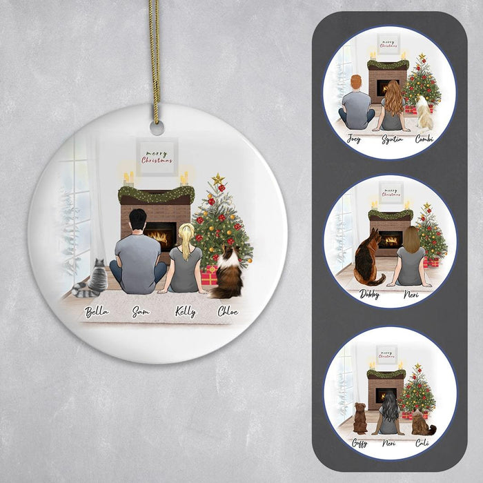 Personalized Pet & Owner Christmas Ornament Circle Ornament Gooten